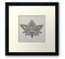 Linework Lotus Framed Print