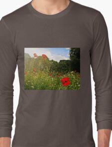 Sun kissed poppies Long Sleeve T-Shirt