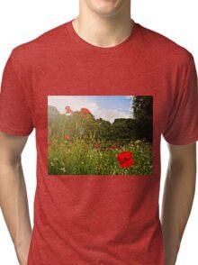 Sun kissed poppies Tri-blend T-Shirt