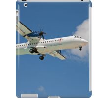 liat airlines fly over Maho beach in St Maarten iPad Case/Skin
