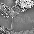 Bridalviel Falls (B&W) by NancyC