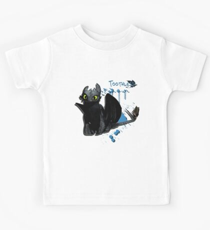How to train your dragon - Toothless Splatter Kids Tee