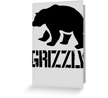 Grizzly (1) Greeting Card