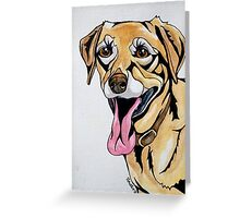 #1: DICE the Yellow Lab: Messages from the Dogs Oracle Deck Greeting Card