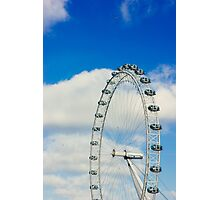 London Eye Blue Sky Photographic Print