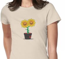 Siamese Sunflower Womens Fitted T-Shirt