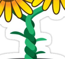 Siamese Sunflower Sticker