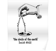 ISA 40:22 THE CIRCLE OF THE EARTH Poster