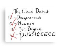 Do you get to the cloud district very often? Metal Print
