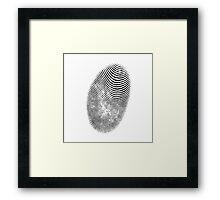 finger print texture Framed Print