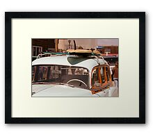 Surfin' USA - Surfboard and Woody Framed Print