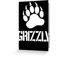 Grizzly Paw (2) Greeting Card