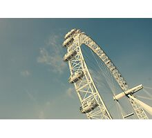 White London Eye Photographic Print