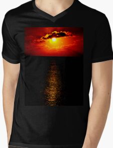 The Sunset Collection-Irish Design Mens V-Neck T-Shirt