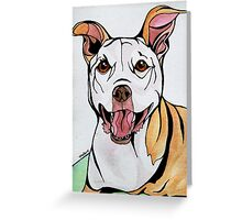 #2: HONEY the Tripawd Pitbull: Messages from the Dogs Oracle Deck Greeting Card
