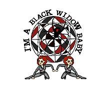 I'm a Black Widow baby Photographic Print
