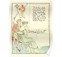 A Masque of Days - From the Last Essays of Elia 1901 illustrated by Walter Crane 42 - Valentine's Day Poster
