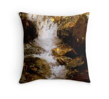 Mini Waterfall - A Brook at Crabtree Falls  Throw Pillow