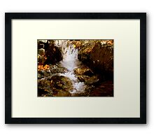 Mini Waterfall - A Brook at Crabtree Falls  Framed Print