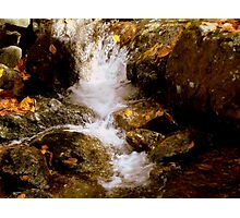 Mini Waterfall - A Brook at Crabtree Falls  Photographic Print