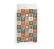 The Lovecraftian Squares Duvet Cover