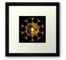 'SphereStar (gold)' Framed Print