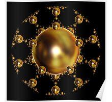 'SphereStar (gold)' Poster
