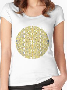 psychedelic Swirls Women's Fitted Scoop T-Shirt