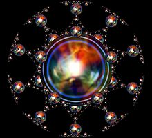 'SphereStar (rainbow)' by Scott Bricker