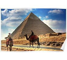 Camels and Khafre Poster