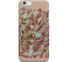 brush type brown iPhone Case/Skin