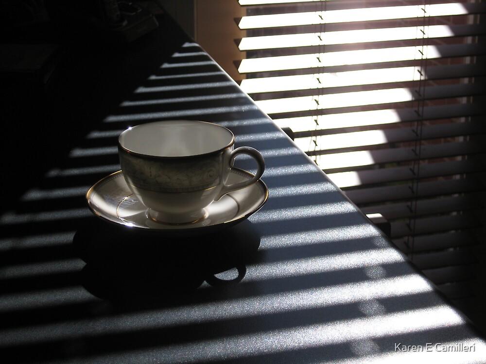 pyramid tea cup  by Karen E Camilleri