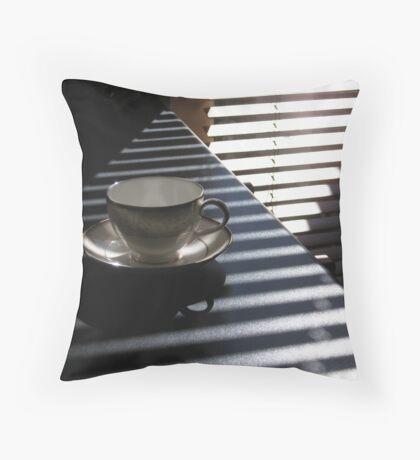 pyramid tea cup  Throw Pillow