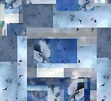 Composition With Birds in Flight and Clouds #2 by Ivana Redwine