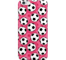 Girly Soccer Ball Pattern iPhone Case/Skin