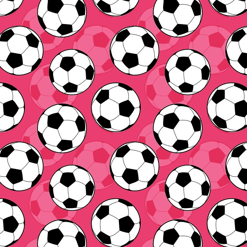 Quot Girly Soccer Ball Pattern Quot Throw Pillows By Cikedo
