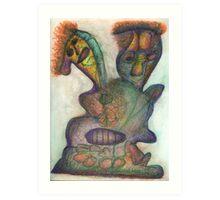 Burning Cactus  Art Print
