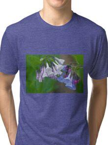 Virginia Bluebells Wildflowers - Mertensia virginica Tri-blend T-Shirt
