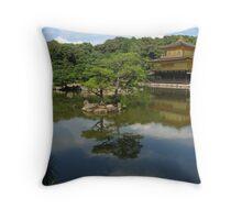 Golden Temple Throw Pillow