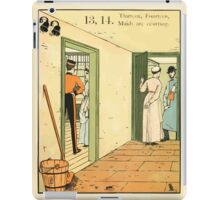 The Buckle My Shoe Picture Book by Walter Crane 1910 23 - Thirteen Fourteen Maids are Courting iPad Case/Skin