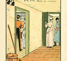 The Buckle My Shoe Picture Book by Walter Crane 1910 23 - Thirteen Fourteen Maids are Courting by wetdryvac