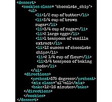 Cookies HTML Photographic Print