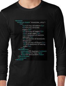 Cookies HTML Long Sleeve T-Shirt