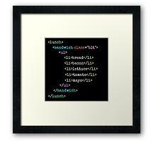 BLT HTML Framed Print