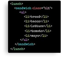 BLT HTML Canvas Print