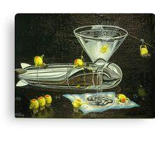 Martini Military Canvas Print