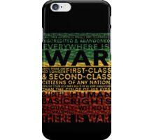 WAR RASTA iPhone Case/Skin