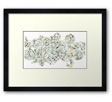 Cats Curl Like Snow Framed Print