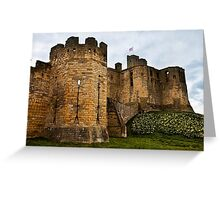 Warkworth Castle in springtime Greeting Card
