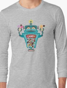 Retro robot colorful candy machine Long Sleeve T-Shirt